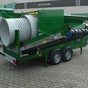 MS1600 – mobile Doppeltrommel-Siebanlage – Zemmler Siebanlagen GmbH