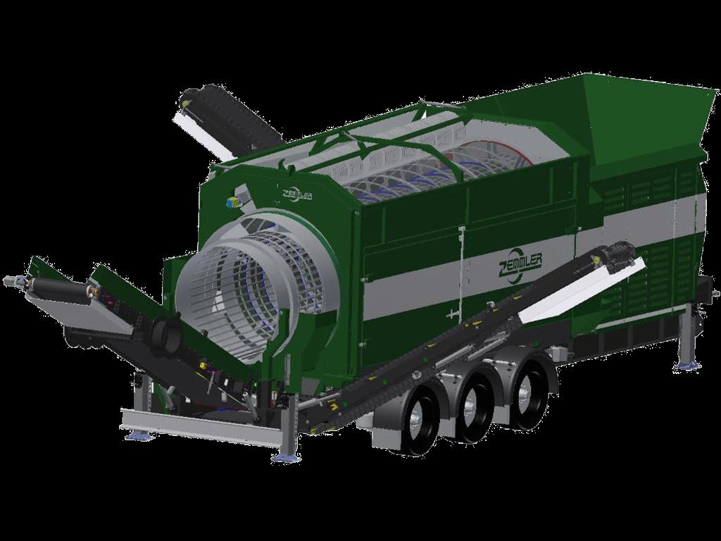 MS6700 – mobile Doppeltrommel-Siebanlage – Zemmler Siebanlagen GmbH
