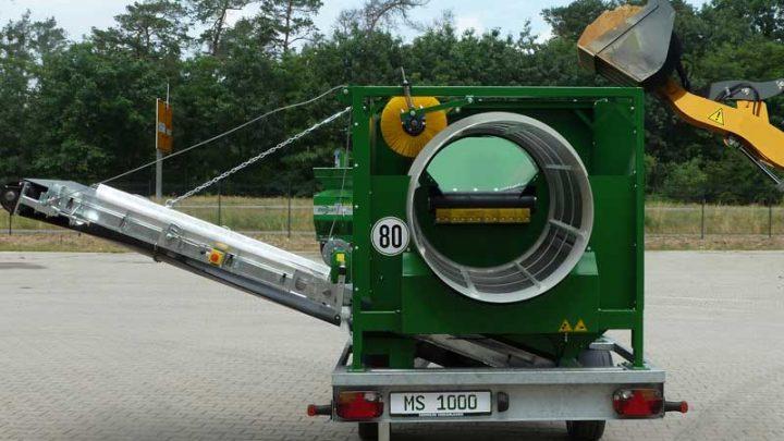 MS1000 – mobile Trommel-Siebanlage im Einsatz – Zemmler Siebanlagen GmbH