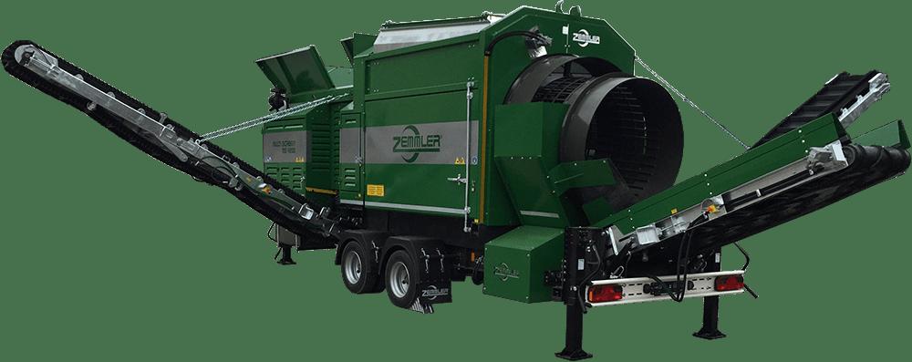 MS4200 – mobile Doppeltrommel-Siebanlage – Zemmler Siebanlagen GmbH