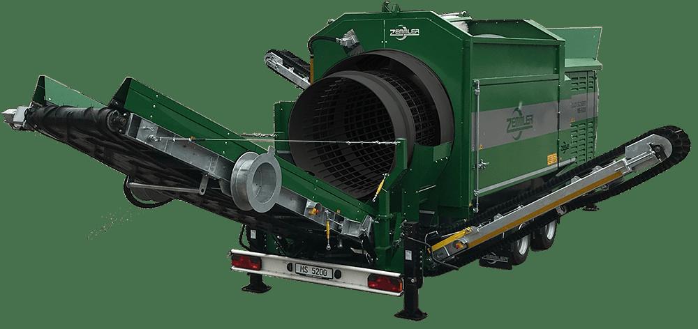 MS5200 – mobile Doppeltrommel-Siebanlage – Zemmler Siebanlagen GmbH