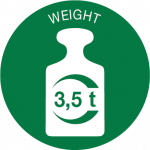 Weight 3,5t