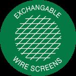 Exchangable Wire Screens